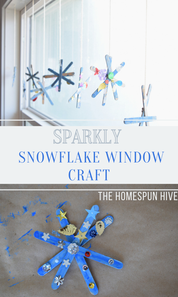 snowflake window craft Pinterest pin