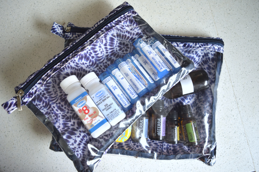natural first aid kit in bags