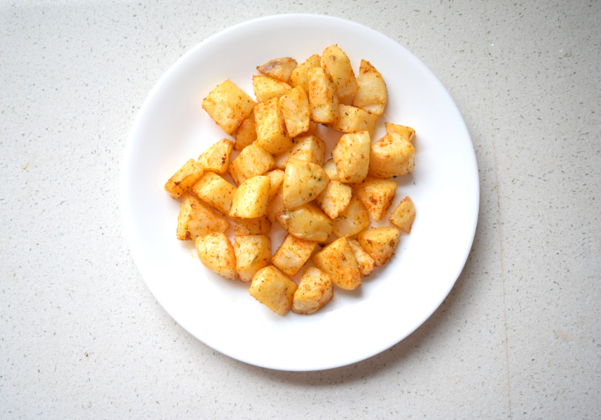 the crispy potatoes
