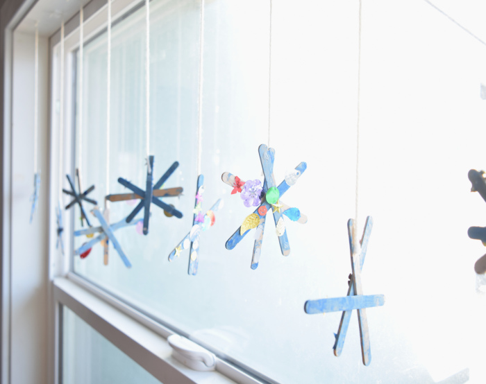 snowflakes in window craft