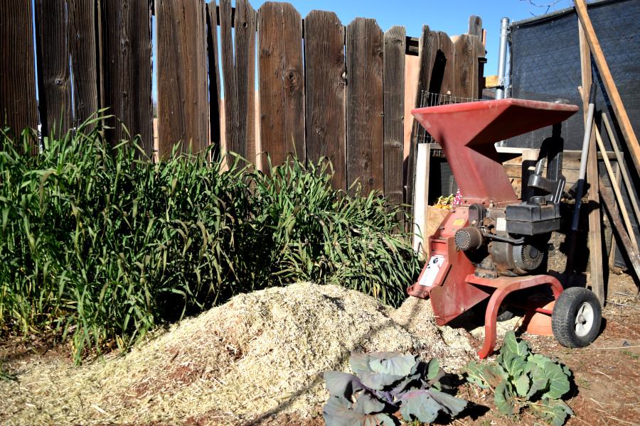 shredder with mulch under