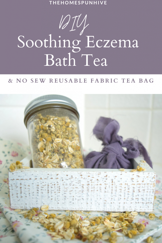 diy soothing eczema bath tea Pinterest pin