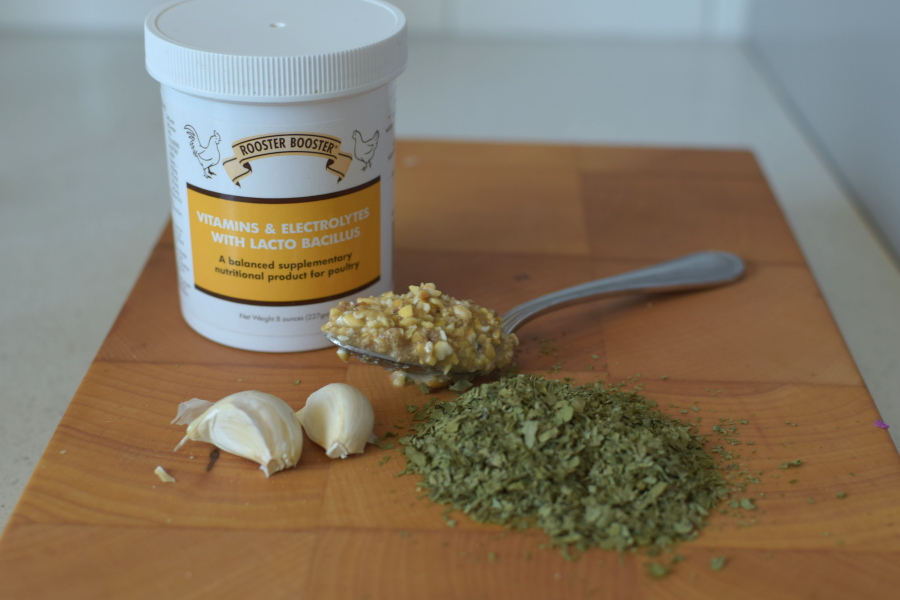 garlic herbs fermented feed and supplements
